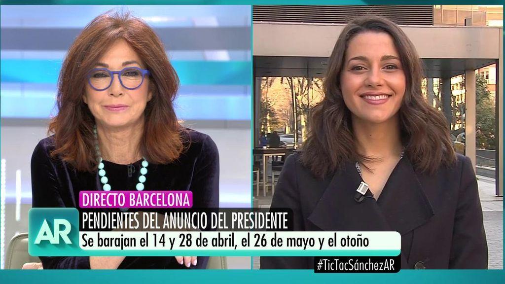 """Inés Arrimadas: """"No pactaremos con Sánchez nunca más, él es parte del problema, no de la solución"""""""
