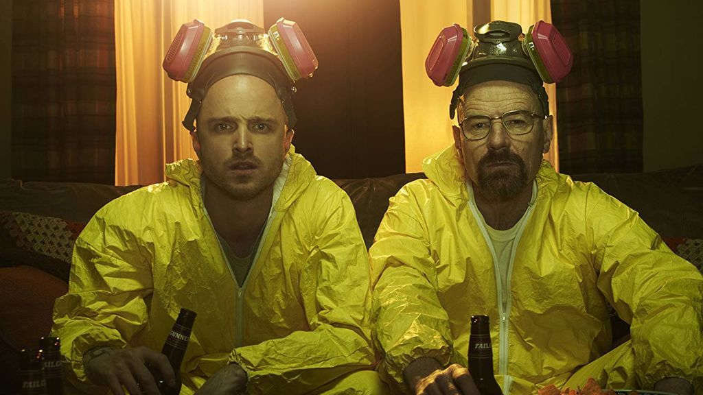 Aaron Paul y Bryan Cranston, en 'Breaking bad'.