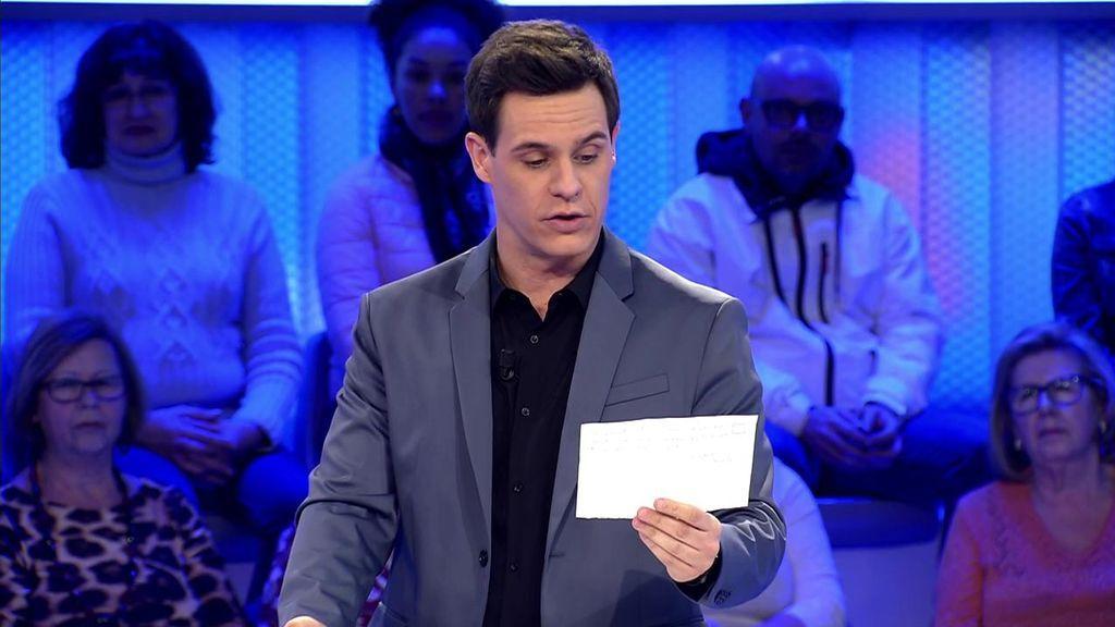 """Christian Gálvez, emocionado, lee una carta: """"Mi madre se fue sin saber si Fran ganaría o no"""""""