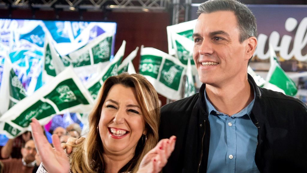 Sánchez arranca en Andalucía junto a Susana Díaz la precampaña