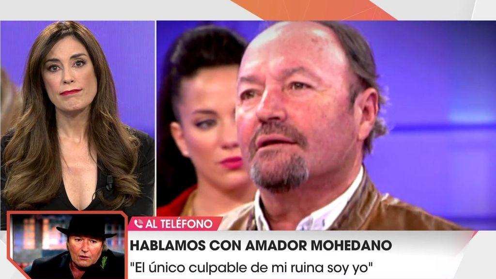 """Amador Mohedano, hundido y en la ruina: """"Solo tengo para comer puchero"""""""