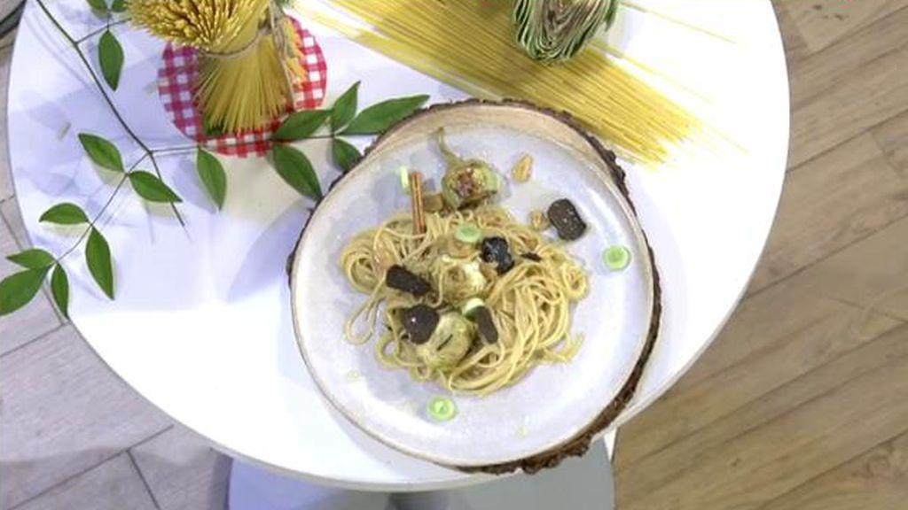 La trufa, reina de los hongos: Jorge Brazález prepara la salsa perfecta para los espaguetis