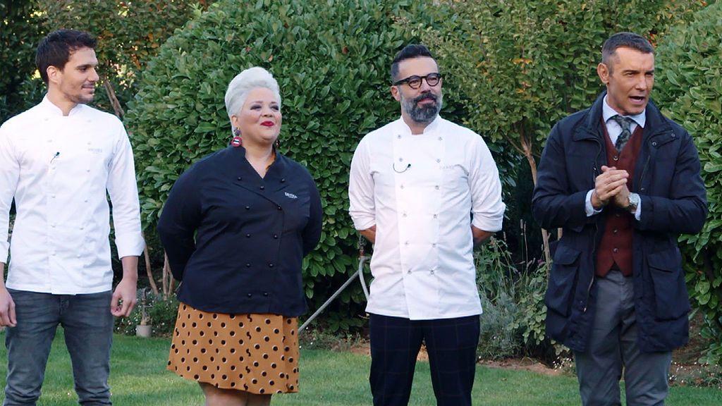Betina Montagne, Miquel Guarro y Dani Álvarez, cara a cara por primera vez con los participantes de 'Bake Off'