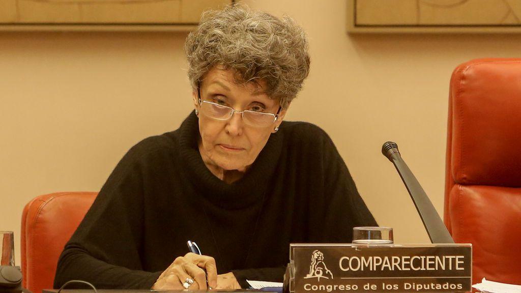 Rosa María Mateo, en la Comisión de Presupuestos del Congreso de los Diputados.