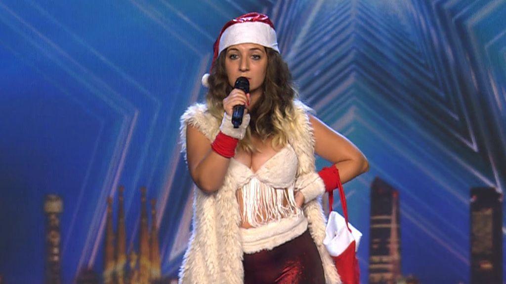 Miss Leiva quiere traer la Navidad a 'Got Talent' y le hace a Risto el regalo más 'hot'