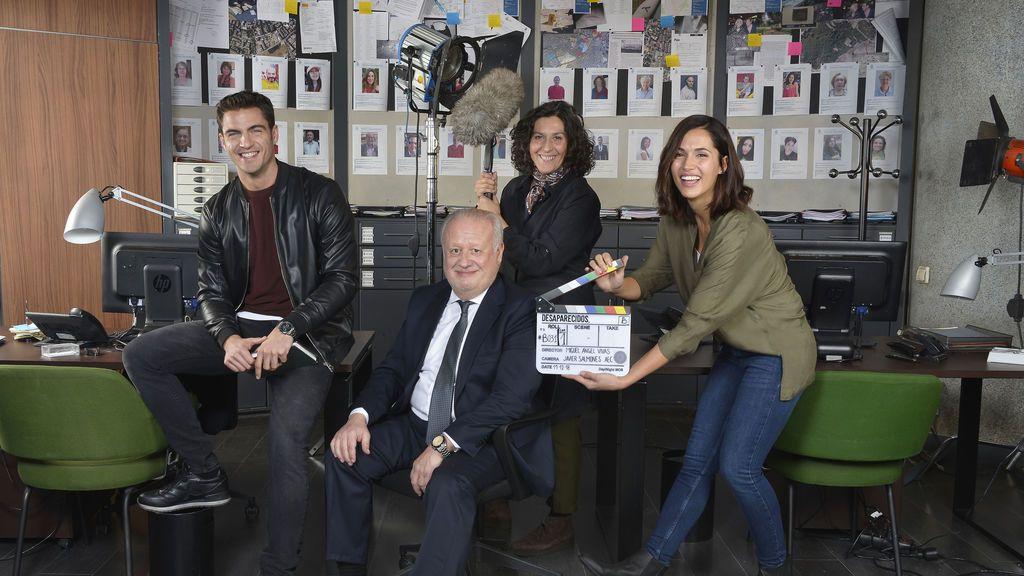 Primera imagen del rodaje de la serie 'Desaparecidos'