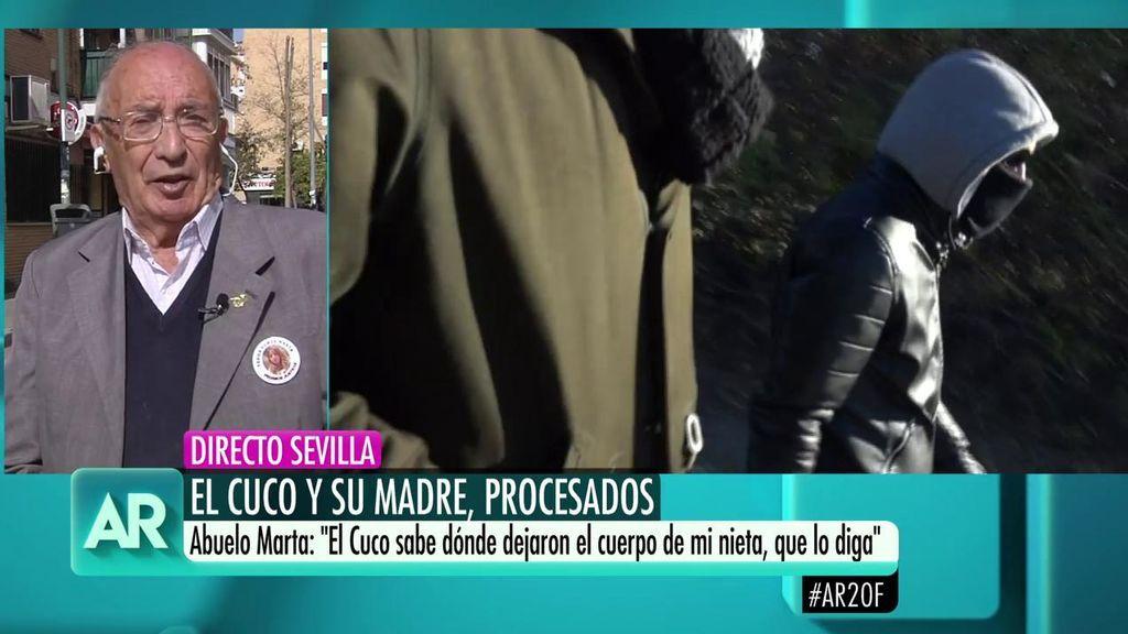 """Abuelo de Marta del Castillo, sobre el procesamiento del Cuco y su madre: """"Nos da esperanza para encontrar a Marta"""""""