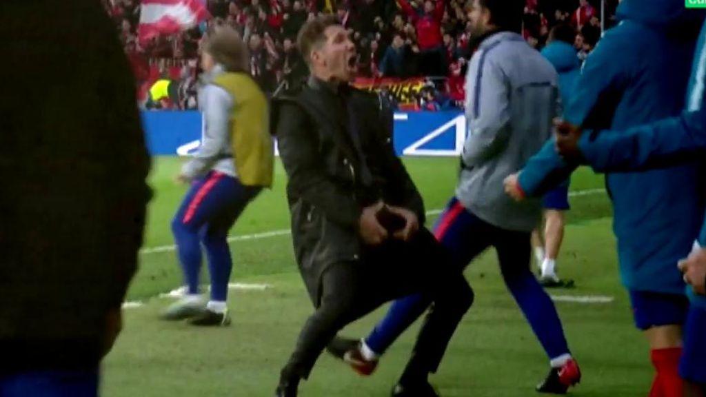 El Cholo asegura que no es la primera vez que celebra con el gesto que hizo frente a la Juventus