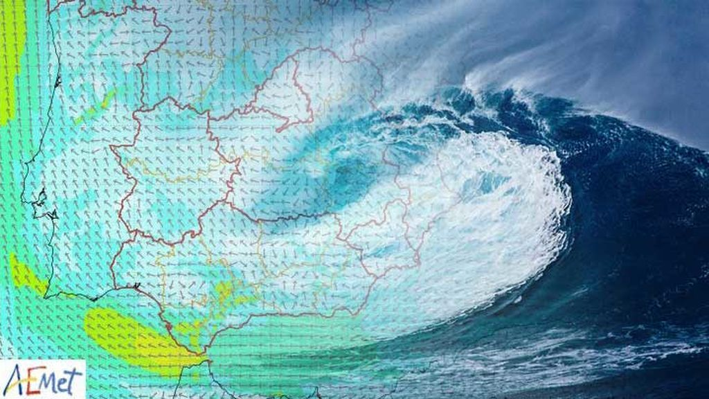 El Estrecho, bajo aviso por riesgo marítimo: el levante se hace fuerte y altera las costas de Cádiz