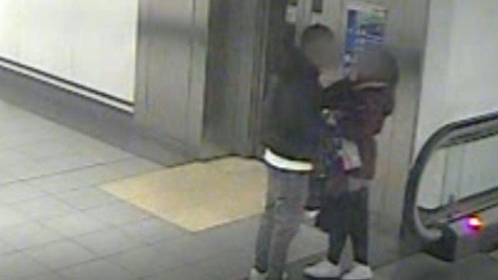 Las cámaras del metro de Madrid graban una agresión machista el día de San Valentín