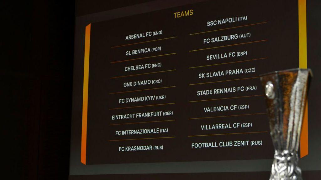 Zenit-Villarreal, Sevilla-Slavia Praga y Valencia-Krasnodar en octavos de la Europa League