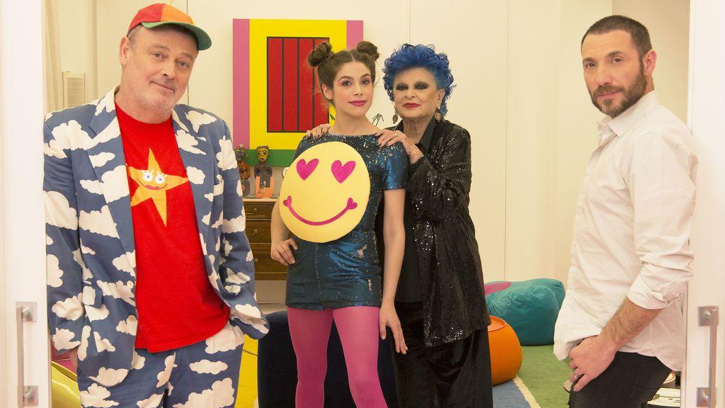 Pablo Carbonell, Cósima Ramírez, Lucía Bosé y Antonio David, concursantes de la octava temporada de 'Ven a cenar conmigo: Gourmet edition'.