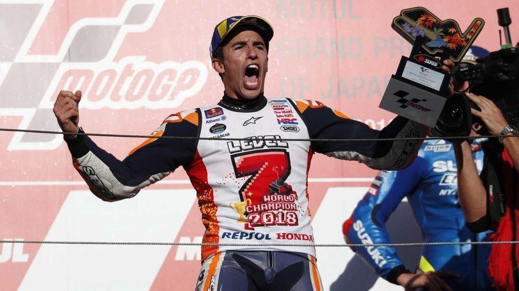 Marc Márquez, campeón de MotoGP 2018.