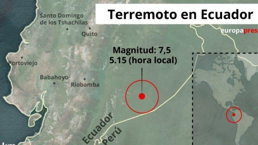 Ecuador sufre un terremoto de 7,5 en la escala Ritcher