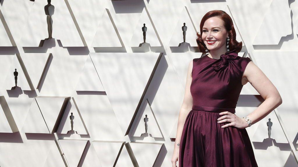 Alicia Malone a su llegada a la alfombra roja de los Premios Oscars 2019