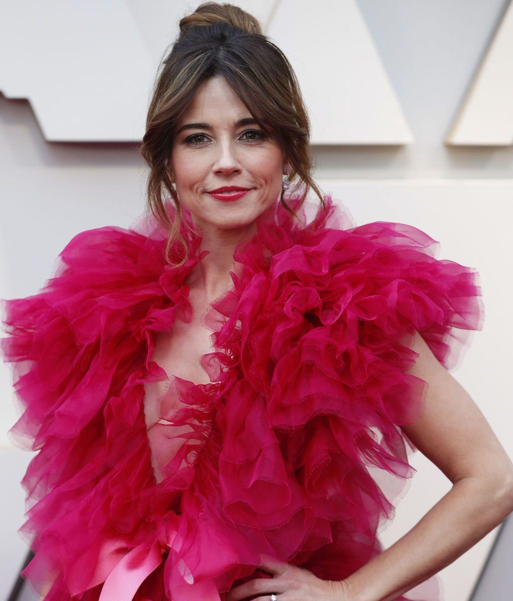Linda Cardenilli posa en la alfombra roja de los Premios Oscars 2019