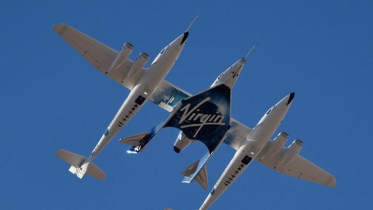 El 'monumental' despegue del avión espacial de Virgin Galactic a 88 km de altura