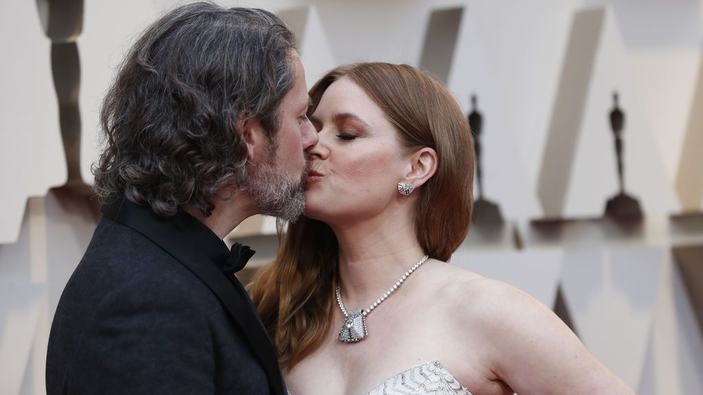 La nominada a mejor actriz de reparto en los Premios Oscars 2019 Amy Adams acude a la gala con su marido Darren Le Gallo