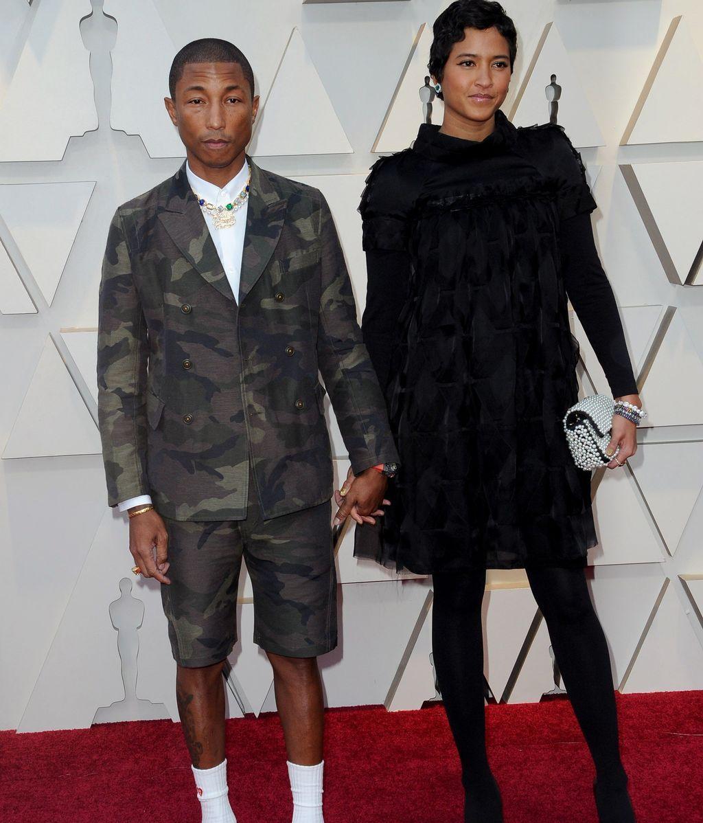 El músico Pharrell Williams y su mujer Helen Lasichanh