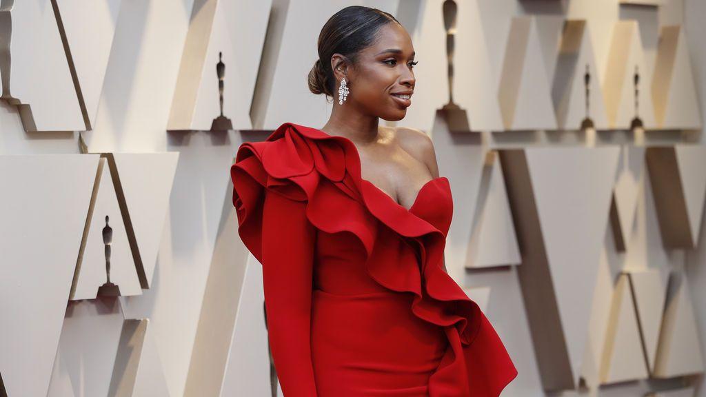 Jennifer Hudson llega a la alfombra roja de los Premios Oscars 2019