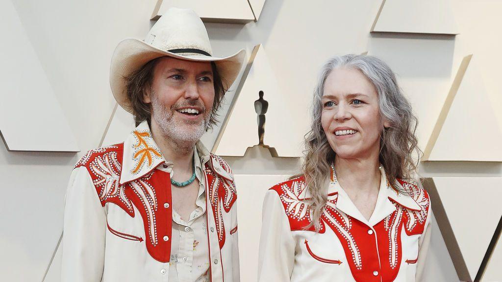 Gillian Welch y David Rawlings, en la alfombra roja de los Premios Oscars 2019
