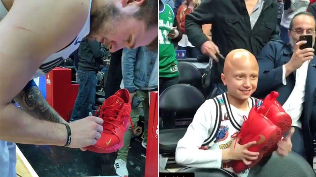 El gesto de Luka Doncic con un niño con cáncer que ha dado la vuelta al mundo