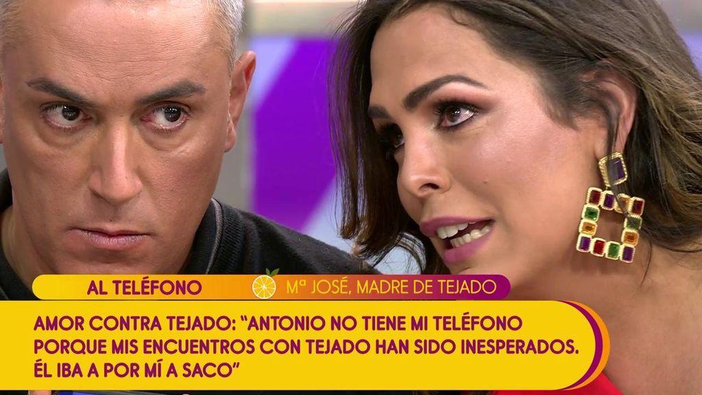 """La madre de Tejado, sobre la grabación de Amor: """"Detrás de esto está Candela y su familia para machacar a mi hijo"""""""