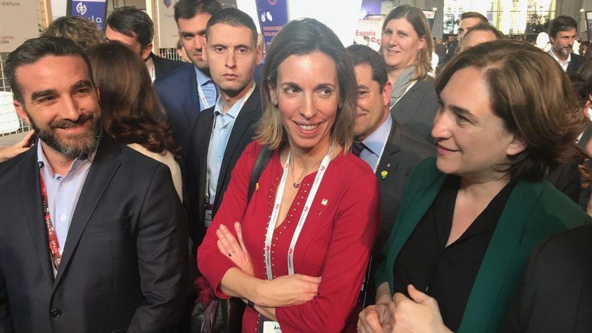 Ada Colau, Àngels Chacón y Francisco Polo inauguran el 4YFN, en el MWC 2019.