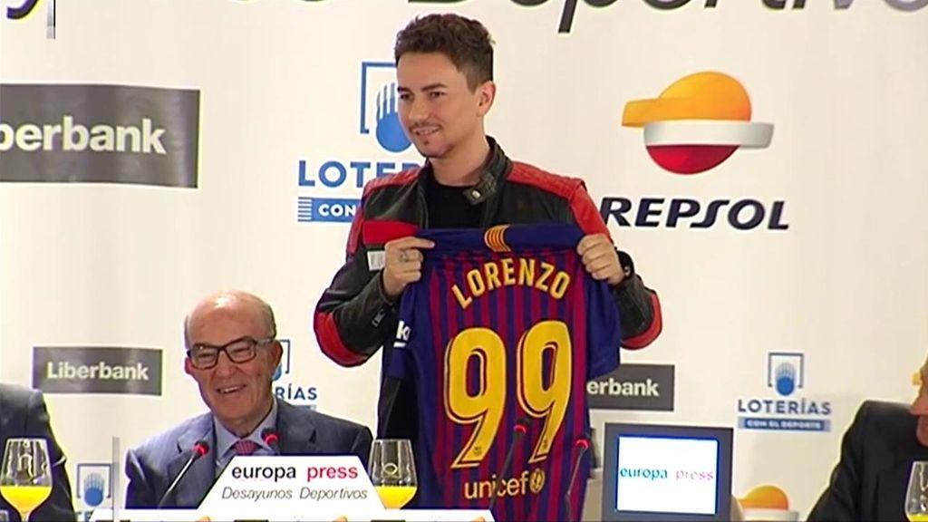 El despiste de Jorge Lorenzo: Le preguntan por el resultado del Clásico y no sabe ni que se juega