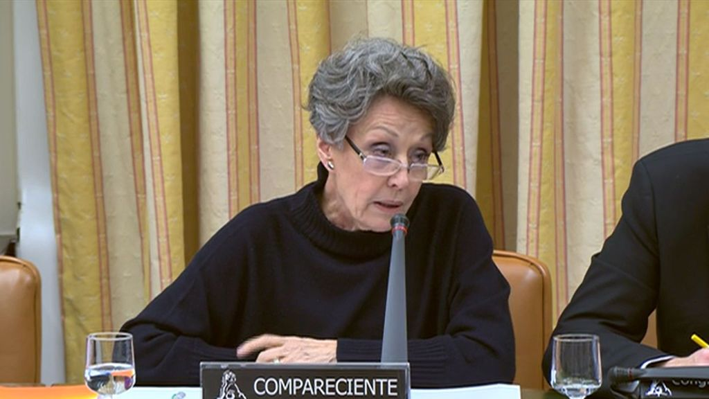 Rosa María Mateo, administradora única de RTVE, durante su comparecencia en la Comisión Mixta (Congreso-Senado) el 28 de febrero de 2019.