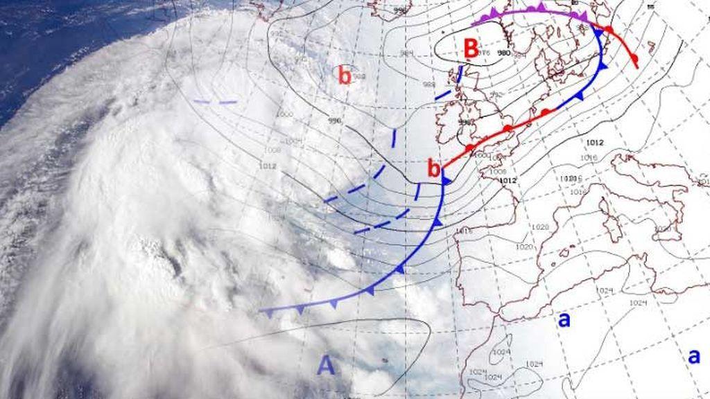 Sándwich de aire frío: viene una borrasca por el Atlántico que podría afectar a España