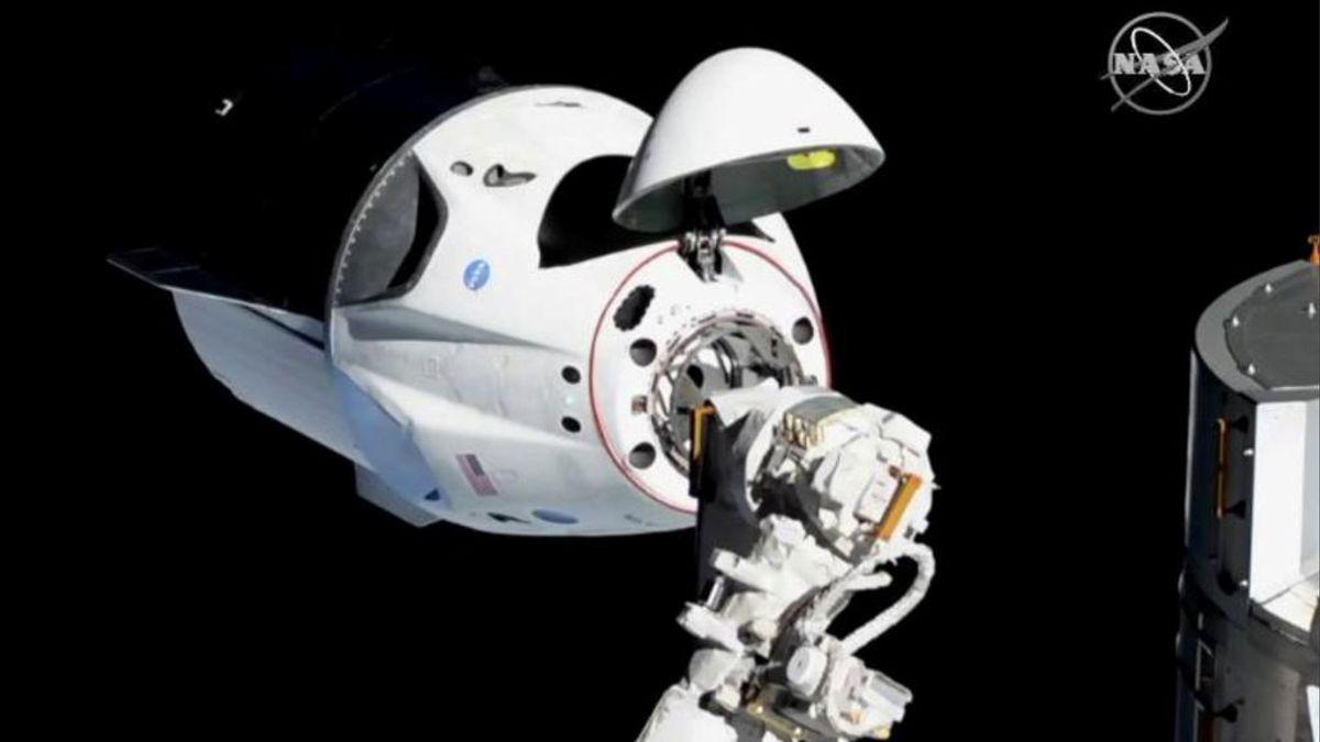 La cápsula turística de Elon Musk llega a la Estación Espacial Internacional