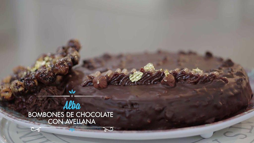 Vísperas de chocolate con avellanas (Bombones de chocolate)