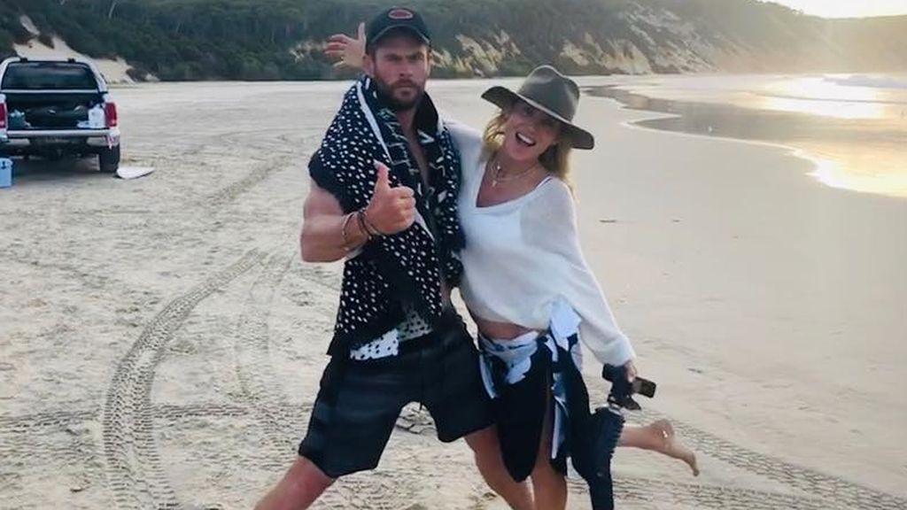 Los Pataky-Hemsworth no le tienen miedo a nada: su inesperada reacción al encontrarse una medusa