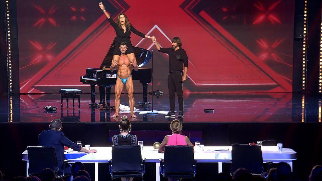 """La actuación de Nicolae, frustrada por Paz: le da al 'botón rojo' sin querer y luego le pide """"sentadillas"""""""