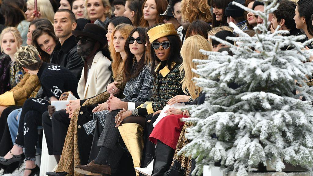 Naomi Campbell, que no ha desfilado, ha estado presente en el front row