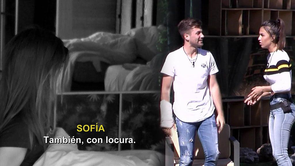 """Sofía confiesa a Albalá que le quiere """"con locura"""" por la noche y al día siguiente se lo niega"""