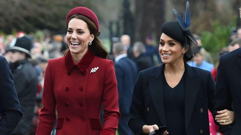 Kate Middleton y Meghan Markle, esposas de Guillermo y Enrique de Inglaterra.