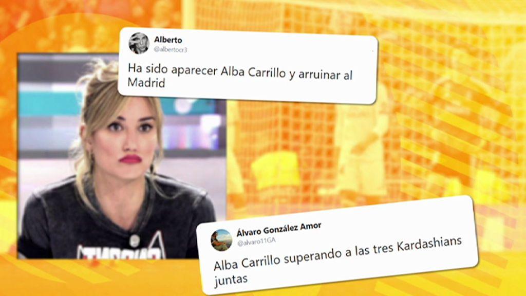 La afición del Real Madrid culpa a Alba Carrillo de la triple derrota madridista