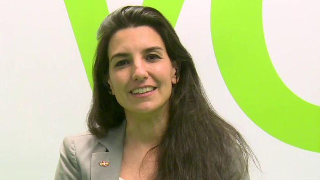 """Rocío Monasterio, 'Vox': """"Estamos aquí para que nadie se atreva a adoctrinar a los niños y niñas"""""""