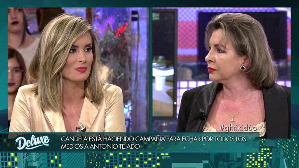 """La madre de Tejado pone en su sitio a Candela: """"Mi hijo se ha quitado caché para que cobres más"""""""