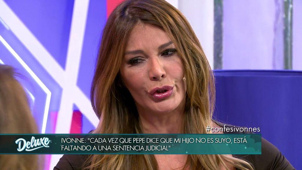 """Ivonne Reyes: """"Si nos pasa algo a mi hijo o a mí, responsabilizaré a Pepe y a su entorno"""""""