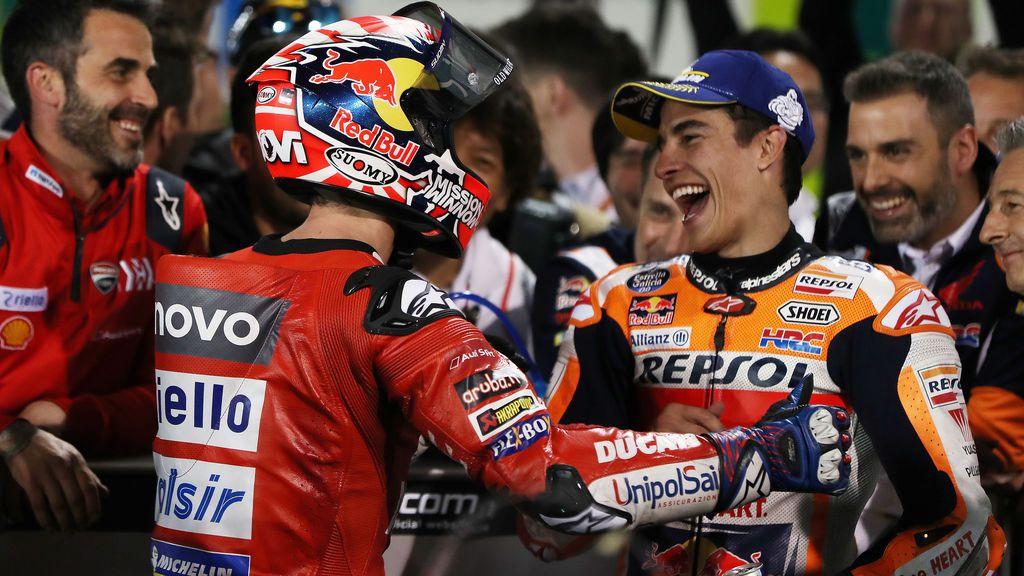Encuentra las '7' diferencias: la foto de Dovizioso y Márquez un año después