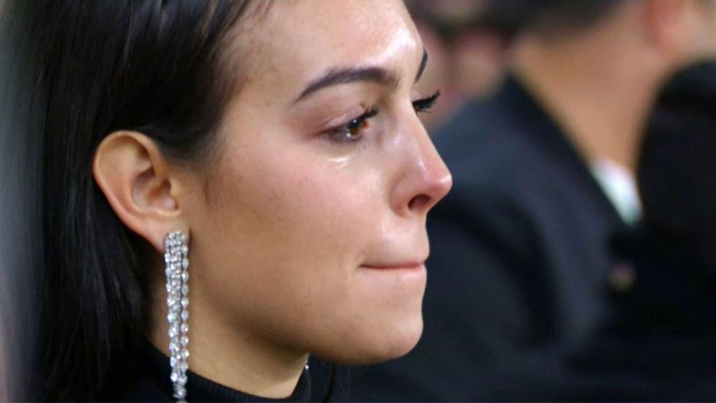 Las lágrimas de Georgina en la grada con el 'hat-trick' de Cristiano al Atlético