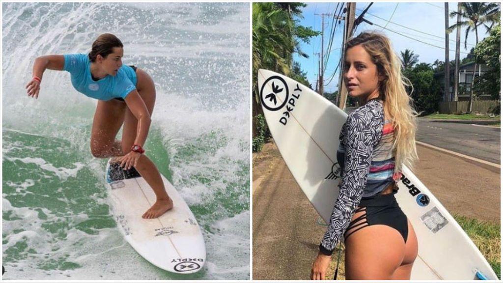 El sufrimiento de Lucía Martiño tras sufrir un corte en el muslo mientras surfeaba