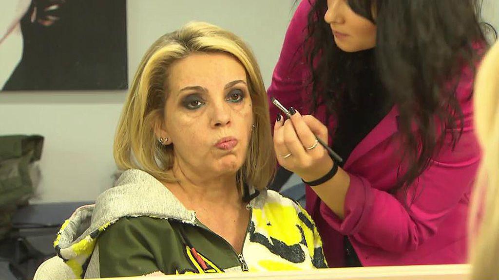 Inédito: el monumental mosqueo de Carmen Borrego con su maquilladora durante el reto