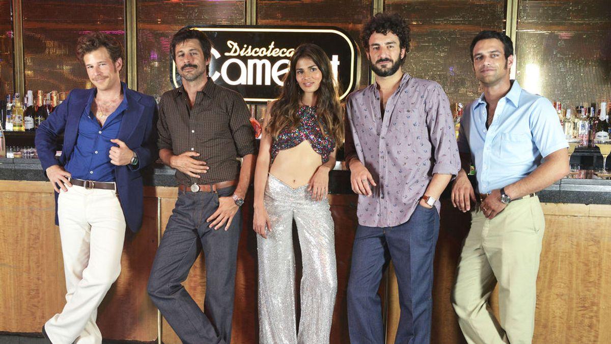 Álvaro Cervantes, Hugo Silva, Sara Sálamo, Miki Esparbé y Jesús Castro, en 'Brigada Costa del Sol'.