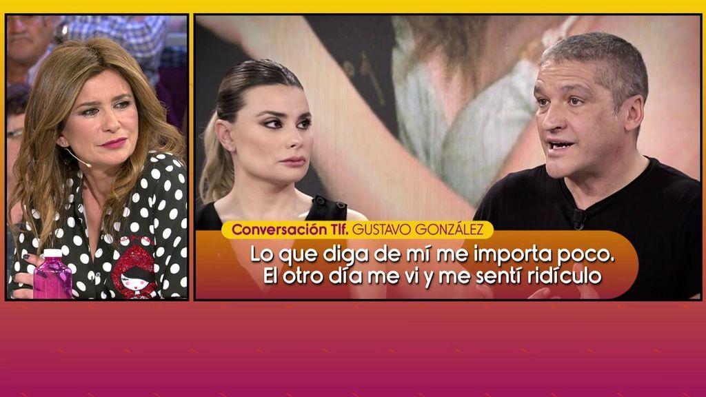 María Lapiedra habla de la separación de Gema López y de un supuesto 'lío' con un compañero de trabajo hace años pero niega que Gustavo lo filtrara