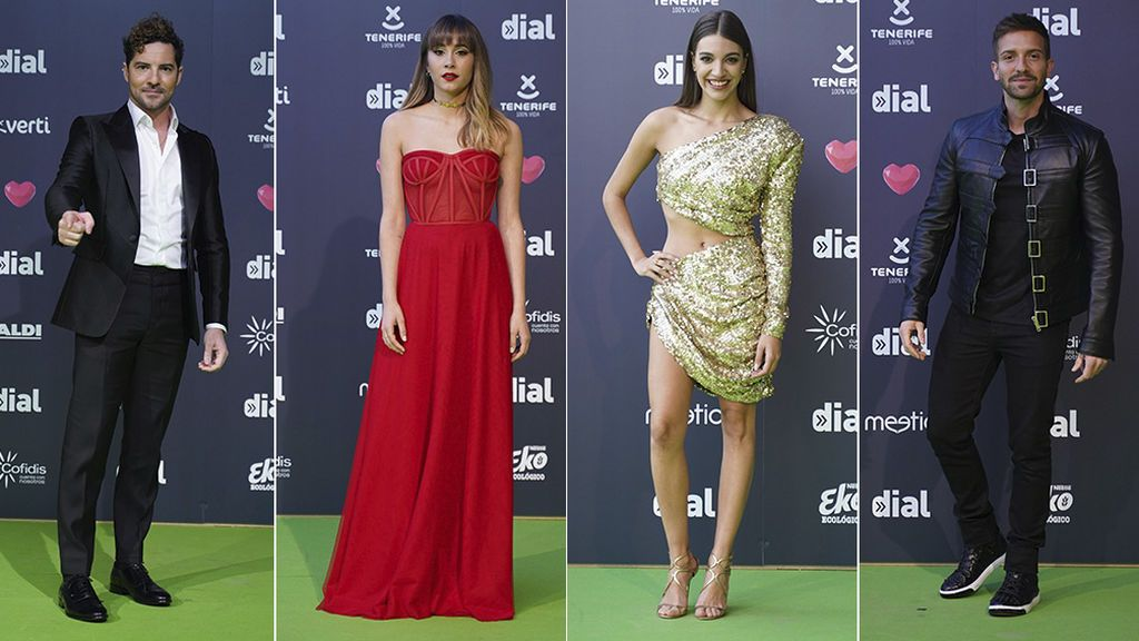 La alfombra verde de los Premios Cadena Dial, foto a foto