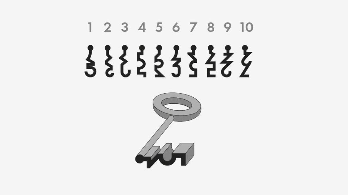 Mide tu agudeza visual: encuentra la cerradura que encaja con esta llave